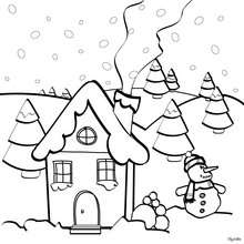 220x220 Snow Covered House Coloring Pages