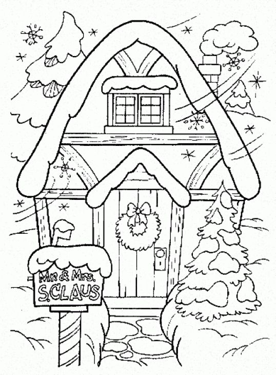 538x730 Winter Coloring Page Printable Color Page Winter