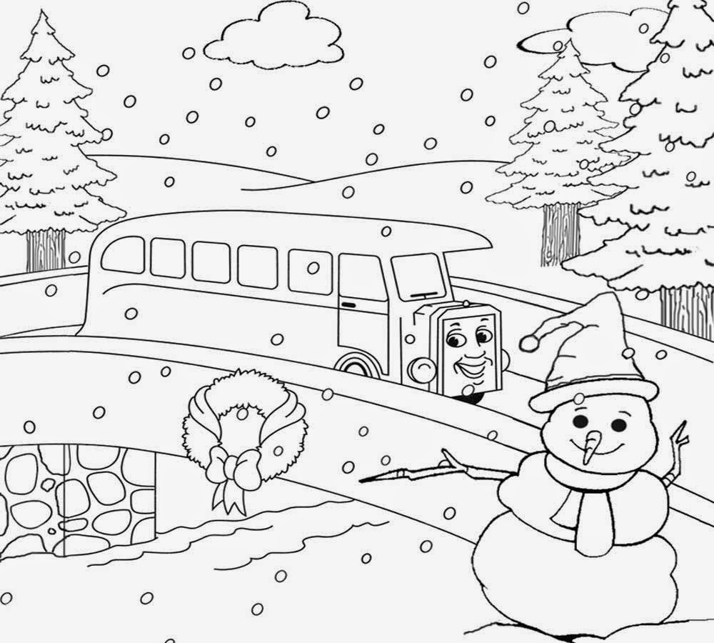 1000x900 Winter Landscape Coloring Pagecenery Pages Pi Day Coloringpagemart