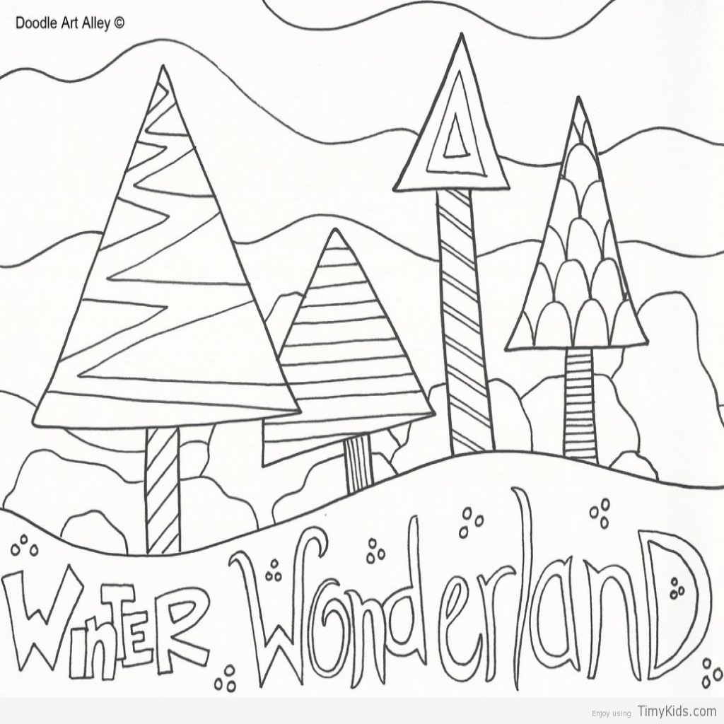 1024x1024 Winter Wonderland Coloring Page Timykids Within Winter Wonderland