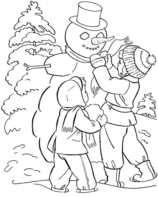 550x683 Winter Wonderland Coloring Pages Winter Coloring Pages Free Winter