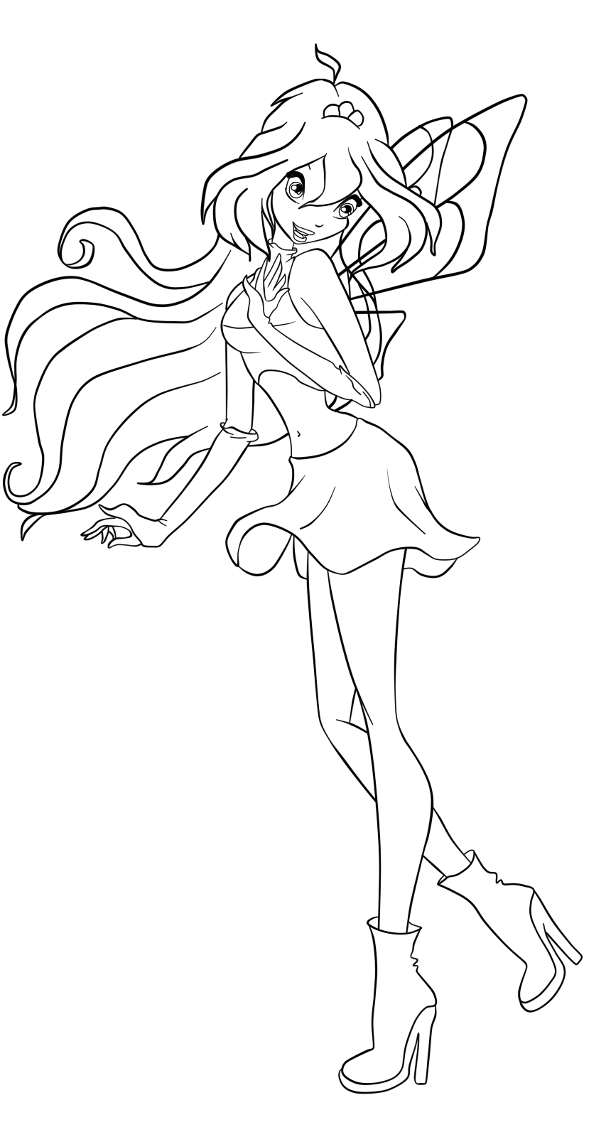 853x1600 Images Of Winx Club Bloom Mermaid Coloring Pages