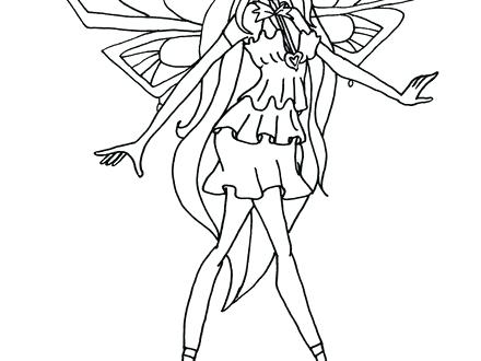 440x330 Club Coloring Pages Bloom Free Printable Club Coloring Winx Club