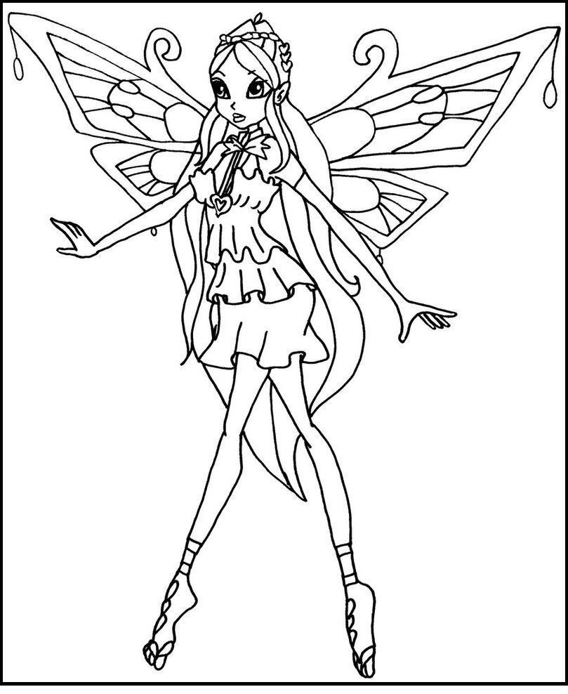 809x988 Inspiring Winx Club Enchantix Bloom Coloring Picture For Kids