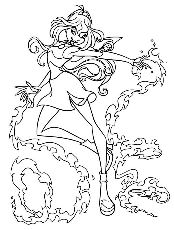 600x792 Princess Bloom Winx Club Coloring Pages