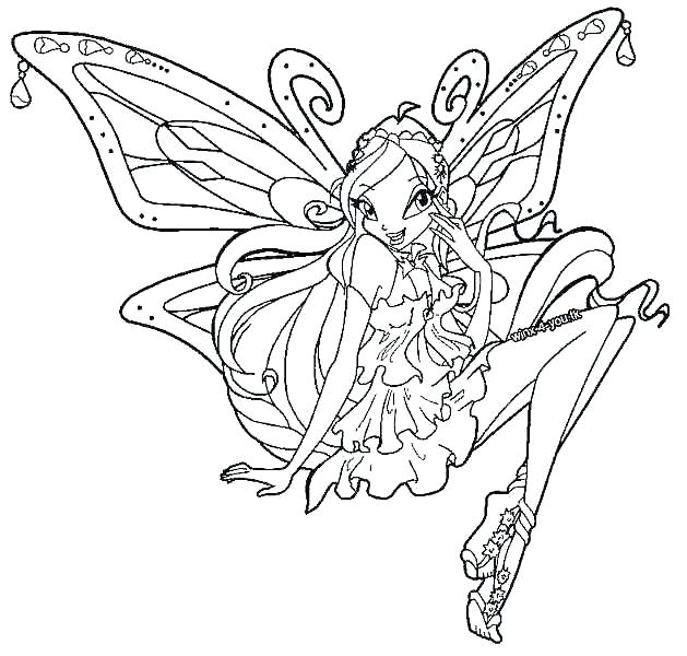 629x600 Unique Winx Club Coloring Pages For Kids Under Club Coloring