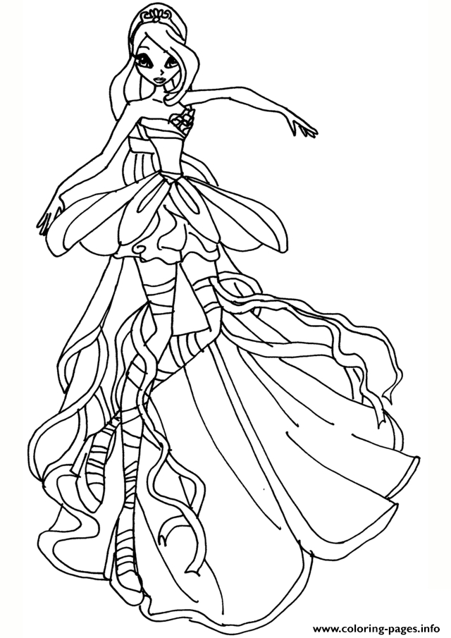 640x905 Winx Club Bloom And Sky Coloring Pages