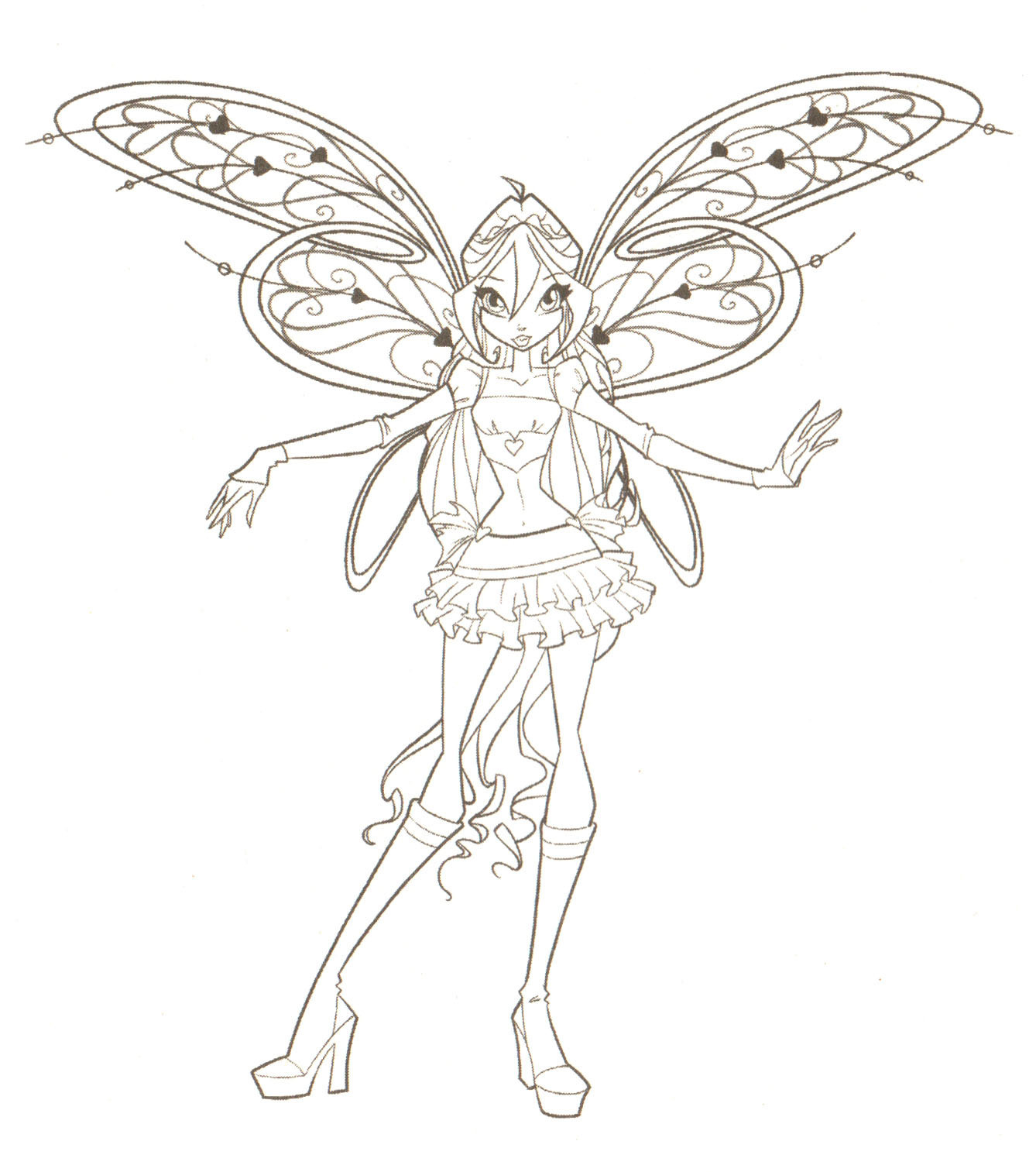 1338x1513 Winx Club Bloom Coloring Pages