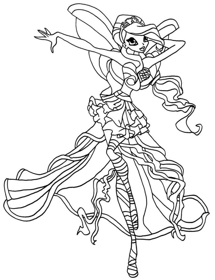 831x1080 Winx Club Sirenix Bloom Coloring Page Free Printable Pages