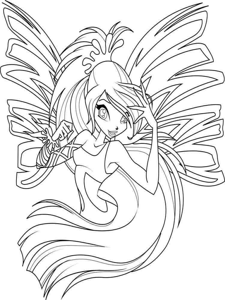 750x1000 Winx Club Coloring Pages Download And Print Winx Club Coloring