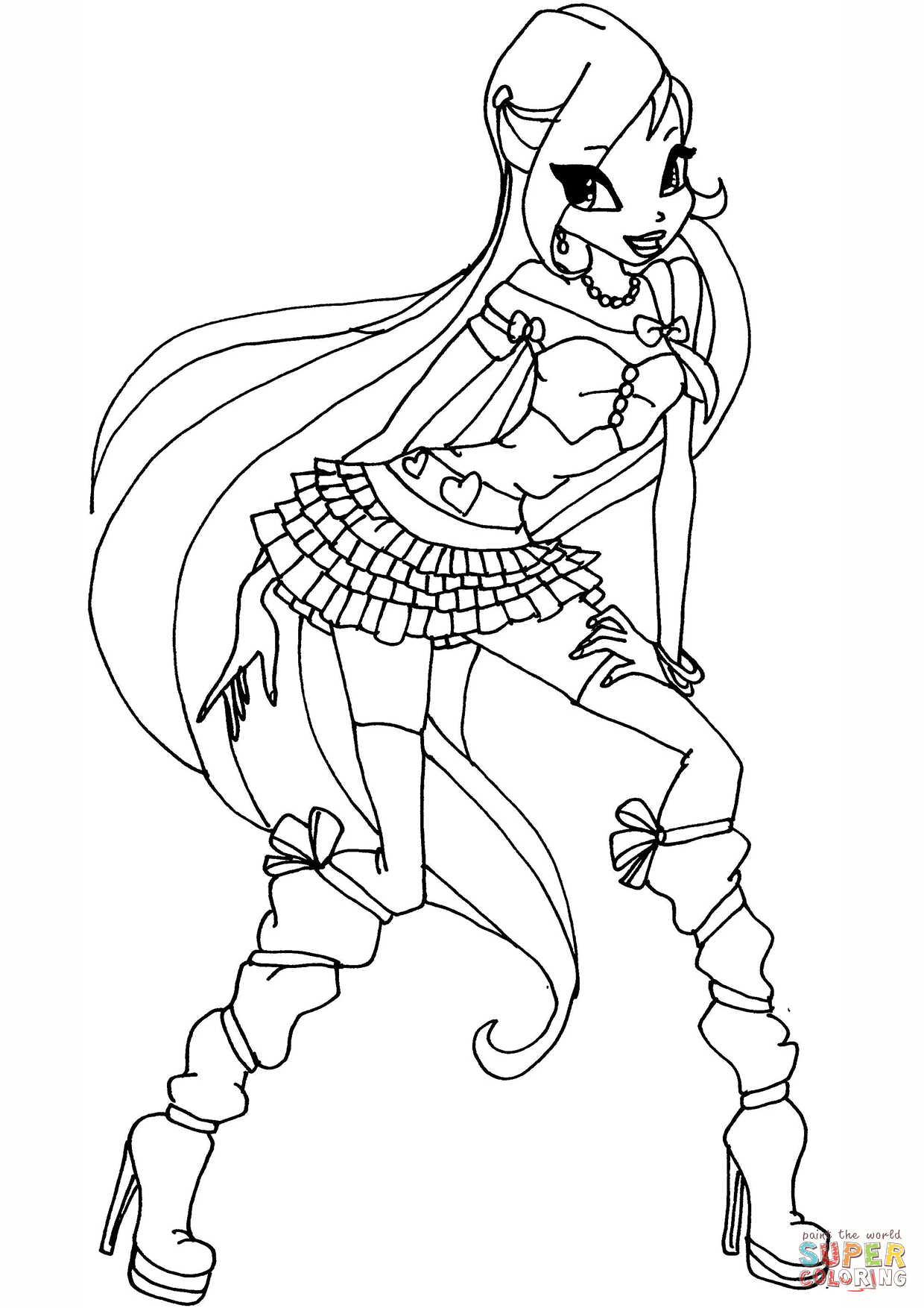 1240x1754 Winx Coloring Pages With Club Bloom Page For Kids Ribsvigyapan