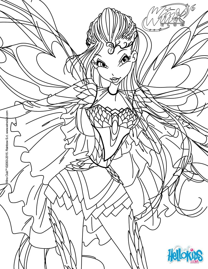 820x1060 Bloom, Transformation Bloomix Coloring Page Coloring Pages