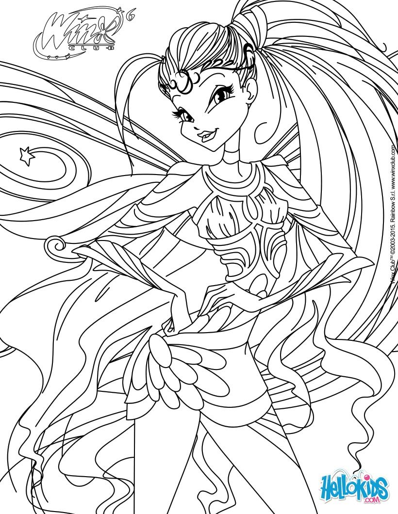 Kleurplaten Winx Club Sirenix.The Best Free Stella Coloring Page Images Download From 27 Free