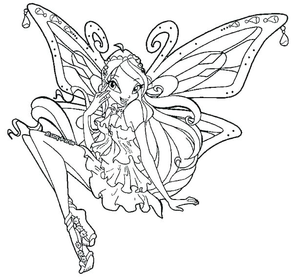 600x572 Winx Club Coloring Pages Coloring Pages Club Bloom Winx Club