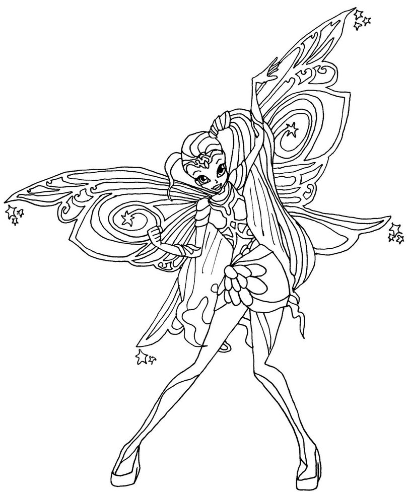 Winx Club Bloomix Coloring Pages at GetDrawings.com | Free ...