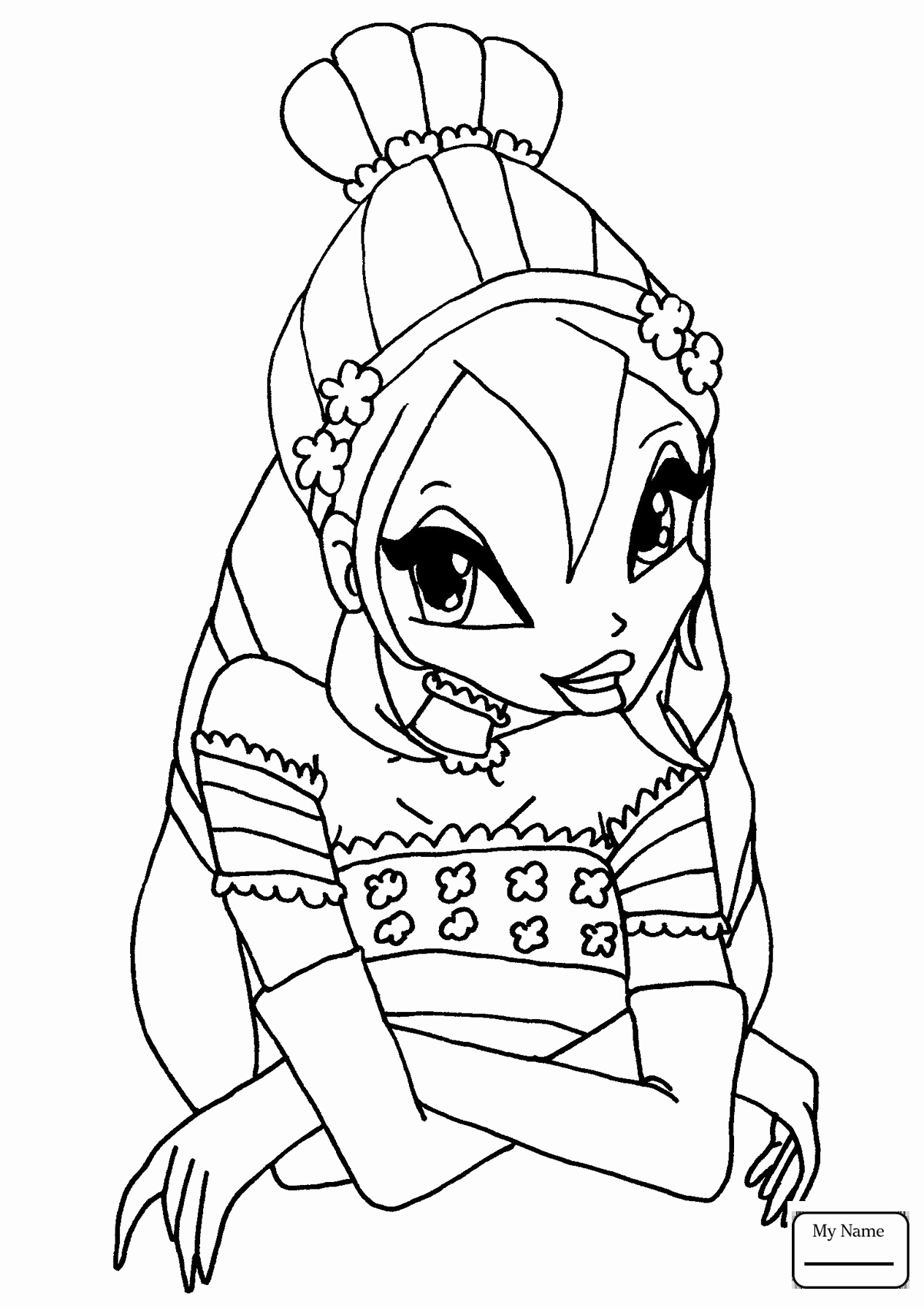 Winx Club Coloring Pages At Getdrawings Free Download