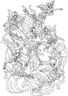 Winx Club Coloring Pages At Getdrawings Free For