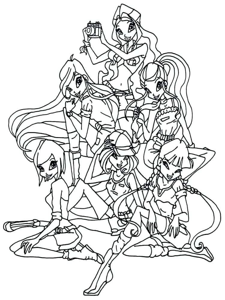 750x1000 Winx Club Coloring Pages Coloring Page Magnificent Club Colouring