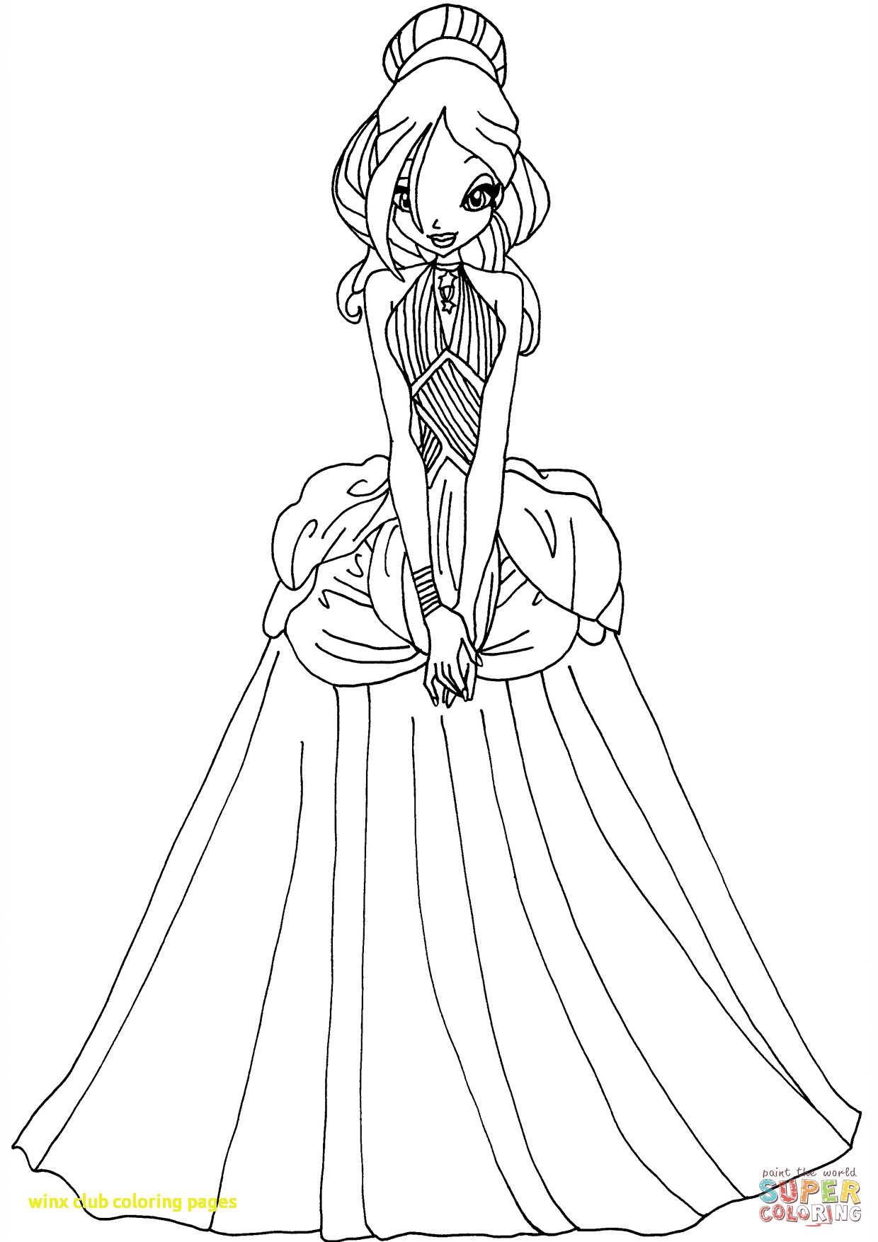 1240x1754 Winx Club Coloring Pages With For Kid Winx Club Coloring Pages