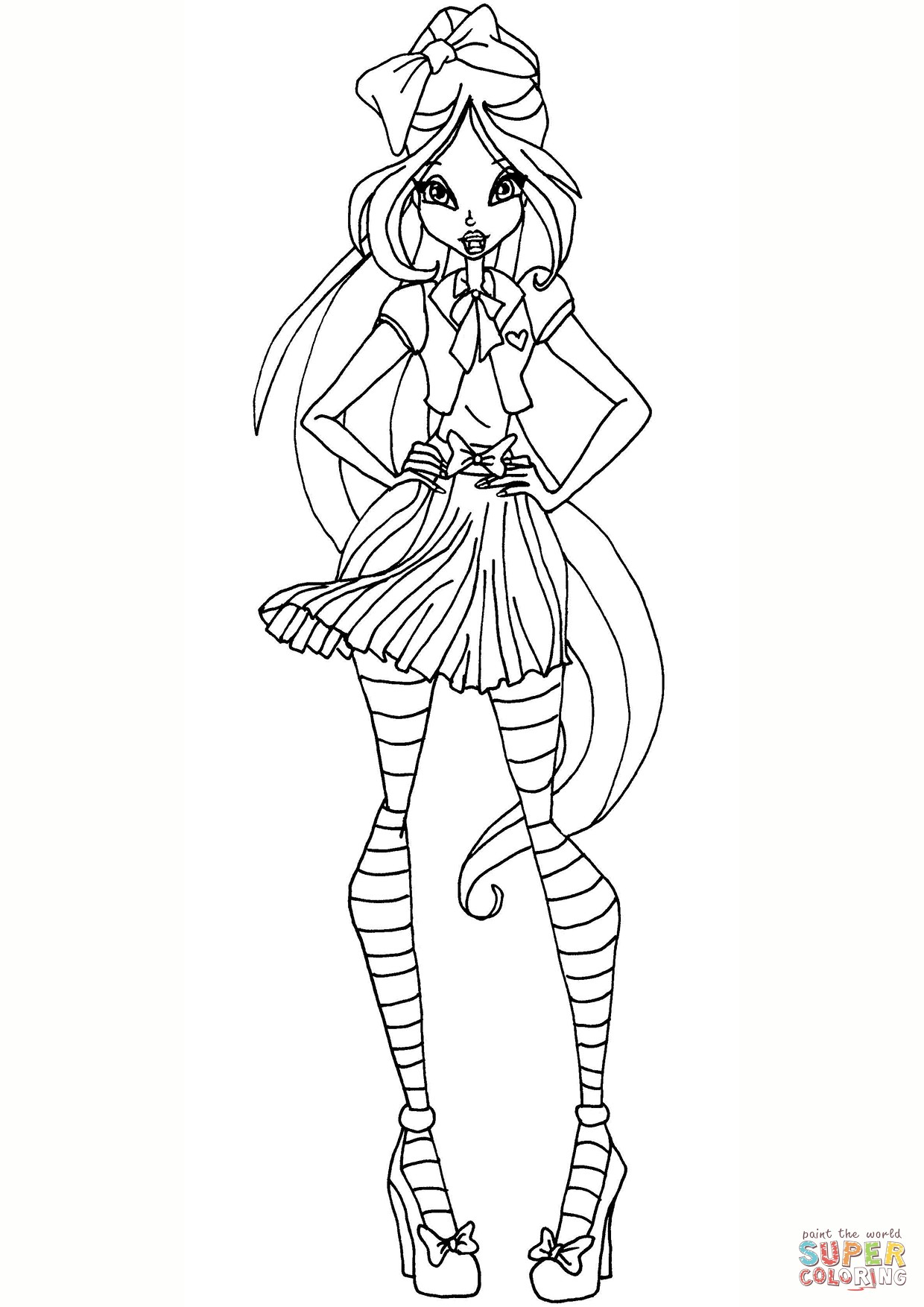 1240x1754 Winx Club Layla Coloring Pages For Girls Inspirational Winx Club