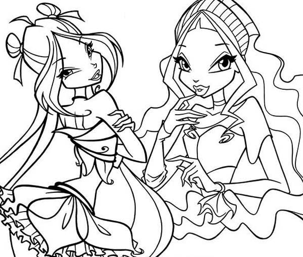 600x509 Famous Characters Of Winx Club Coloring Pages Batch Coloring