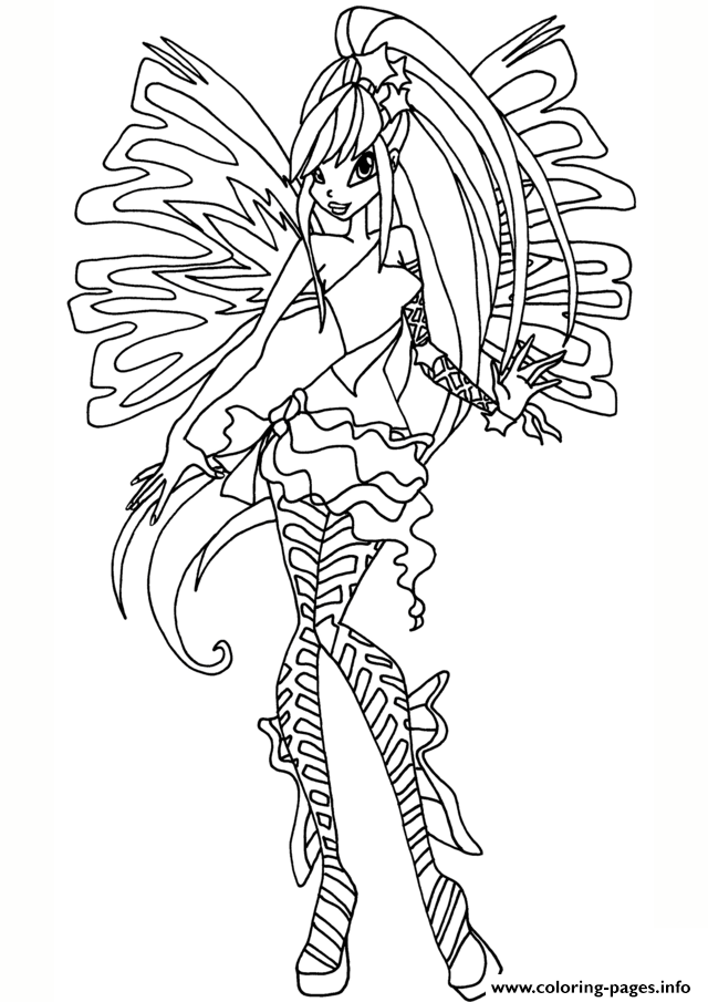 Winx Club Coloring Pages At Getdrawings Com Free For