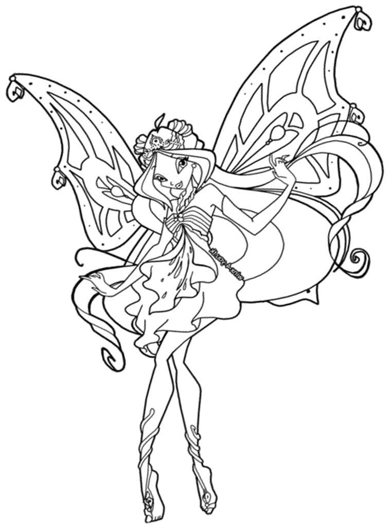 760x1024 Winx Club Coloring Pages