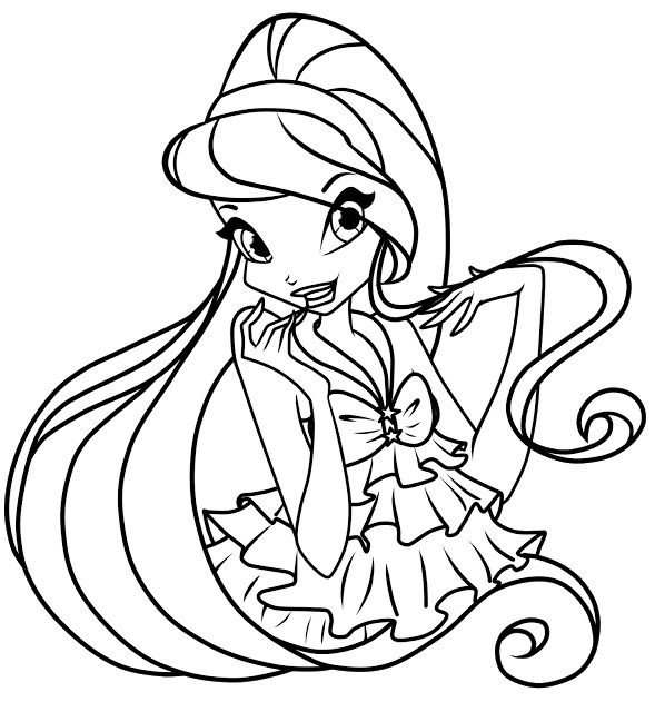 589x640 Free Printable Winx Club Coloring Pages For Kids Winx Club