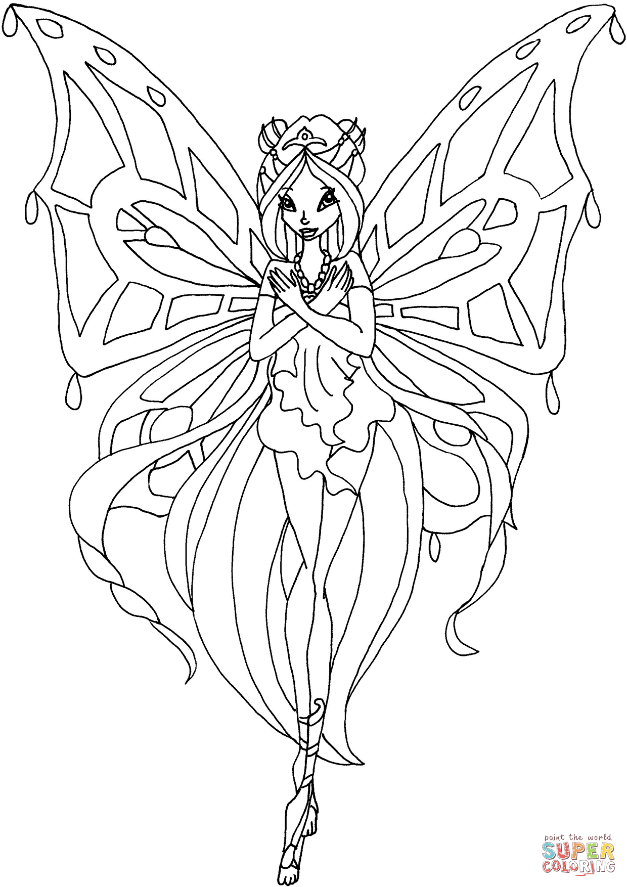 Winx Club Flora Coloring Pages