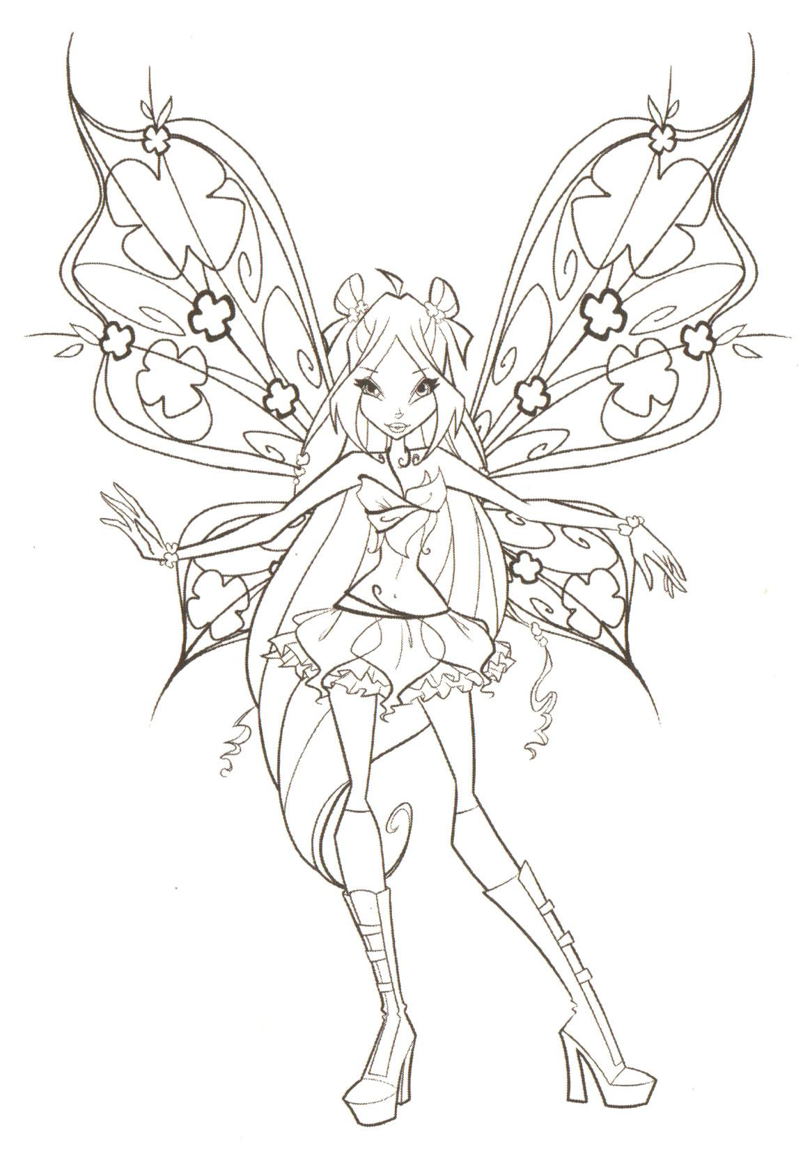 1153x1650 Winx Club Flora Believix Coloring Pages Winx Club Forever