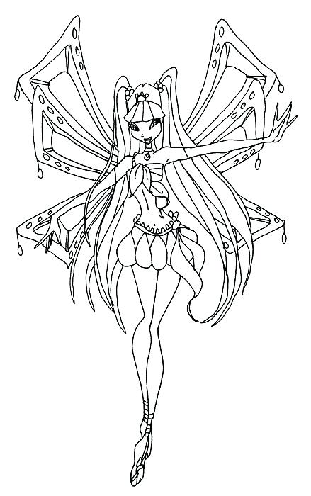 Winx Club Bloom Coloring Pages At Getdrawings Free Download