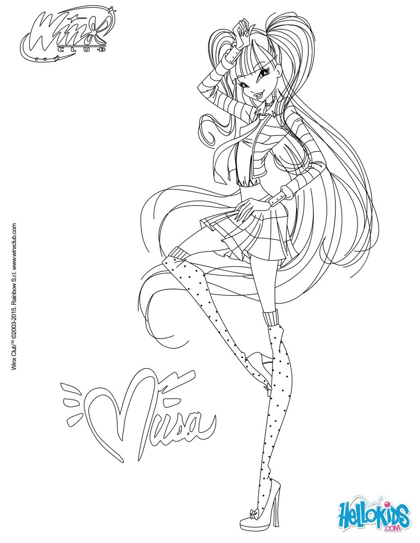 820x1060 Musa In Dress Coloring Pages
