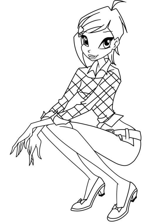 500x761 New Winx Sirenix Coloring Pages Winx Club Musa Coloring Pages