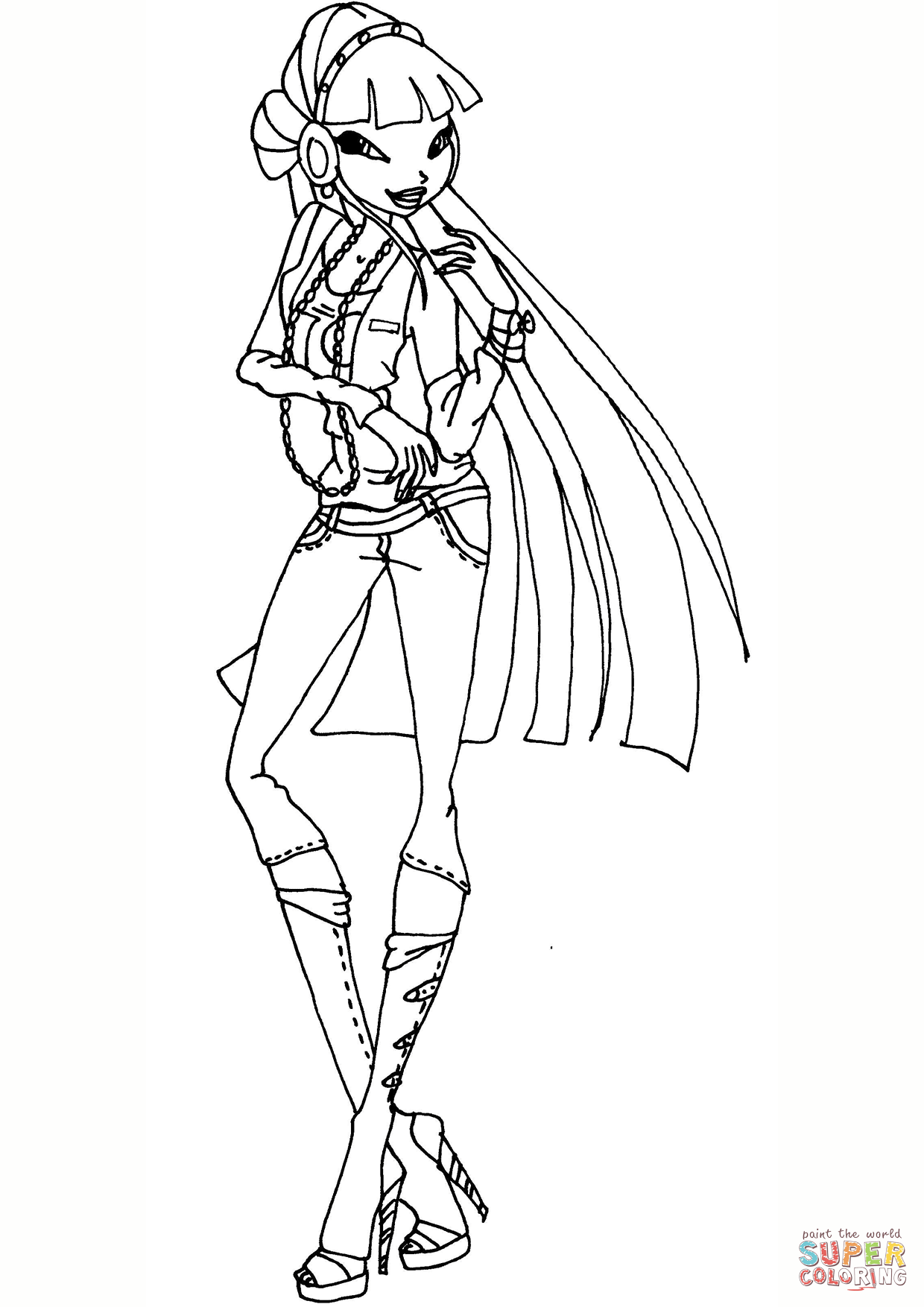 1240x1754 Unconditional Winx Club Coloring Pages Musa Ne
