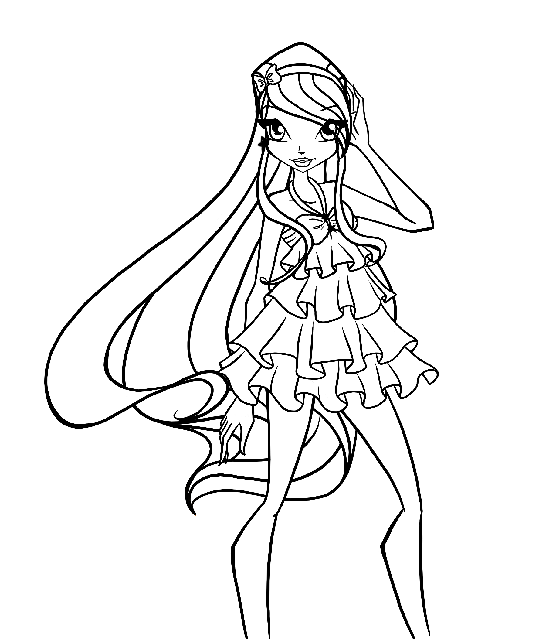 1776x2104 Winx Club Coloring Pages