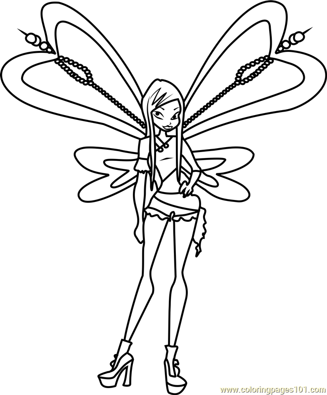 662x800 Winx Club Coloring Pages