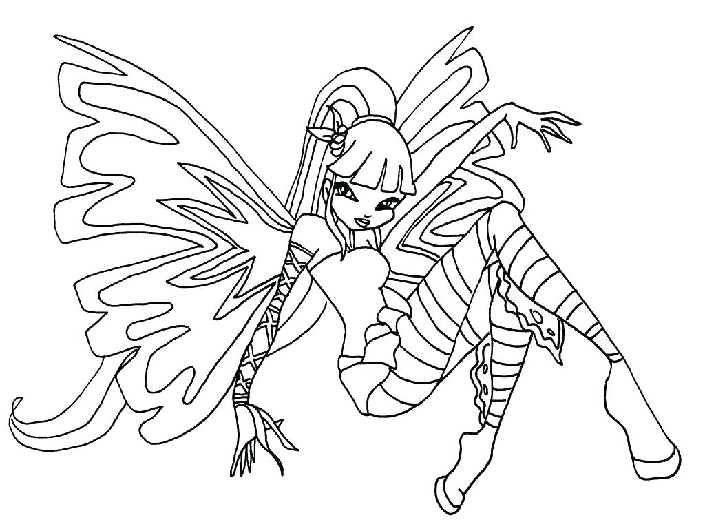 1024x758 Winx Club Musa Harmonix Coloring Pages Lovely Image Page Printable