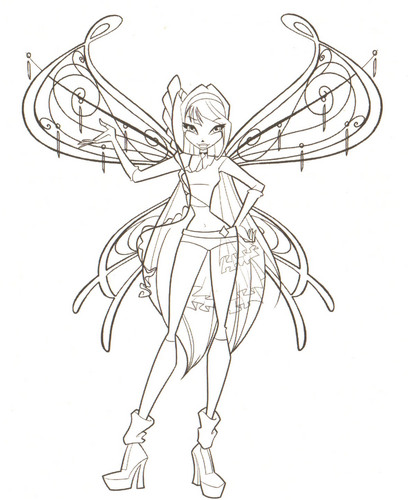 408x500 Winxclub! Images Winx Club Coloring Pages Hd Wallpaper