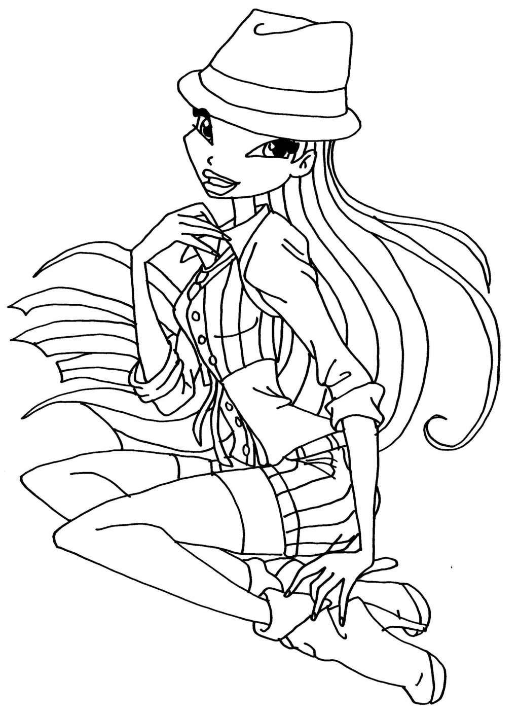 Winx Club Musa Coloring Pages at GetDrawings.com | Free ...