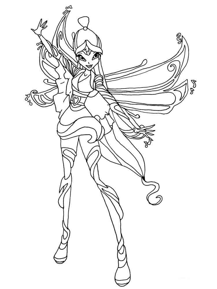750x1000 Winx Club Musa Coloring Pages