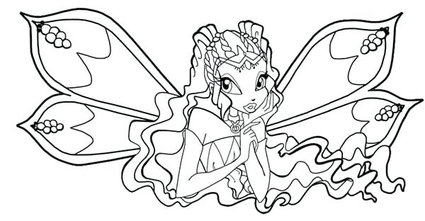 600x312 Winx Club Coloring Pages The Guardian Fairy Of Nature Club