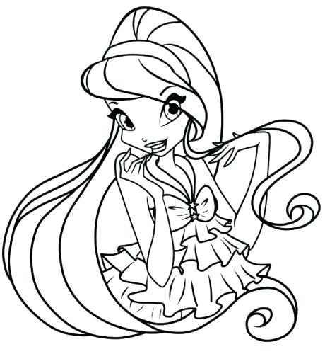 460x500 Winx Club Coloring Pages With Coloring Pages Club Bloom Winx Club