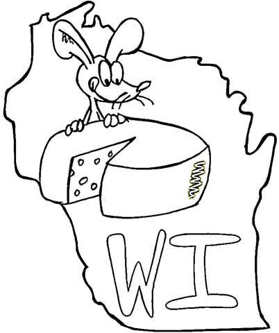 402x480 Wisconsin Map Coloring Pages