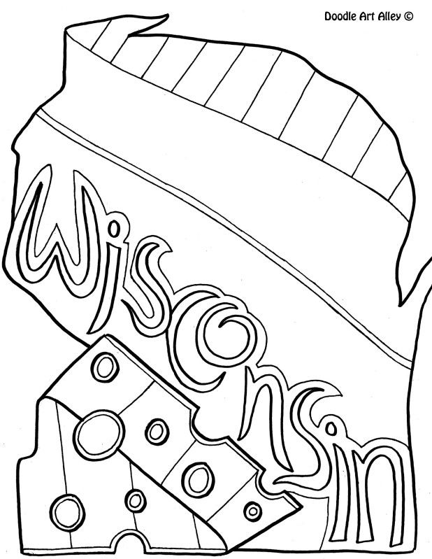 618x799 Best Wisconsin Images On Coloring Books, Coloring