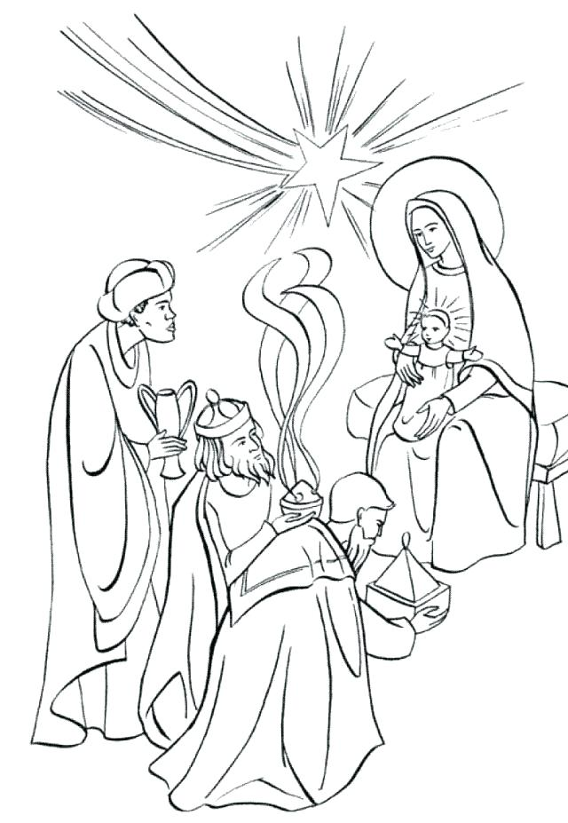 640x927 Three Kings Coloring Pages Wise Men Coloring Pages Wise Man