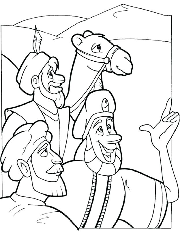 624x802 Three Wise Men Coloring Pages Three Wise Men Coloring Pages