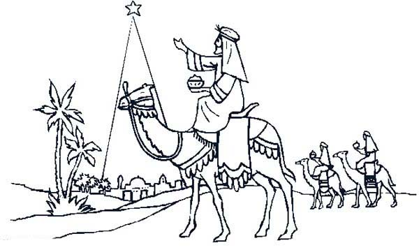 600x358 Three Wise Men Ride Camel Advent Coloring Pages Batch Coloring