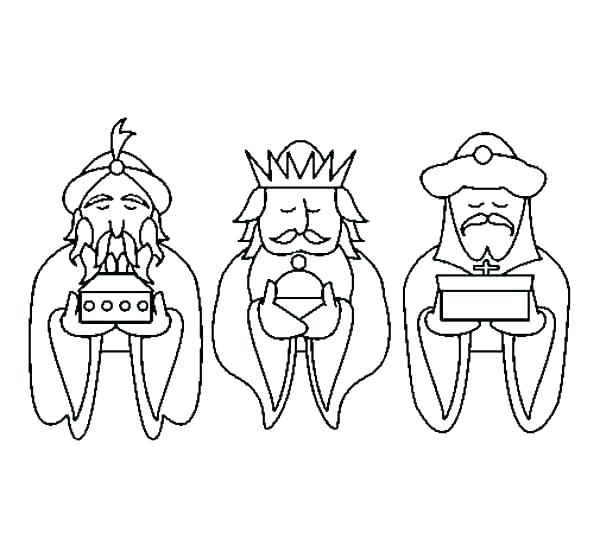 600x558 Wise Men Coloring Pages Wise Men Coloring Pages How To Draw