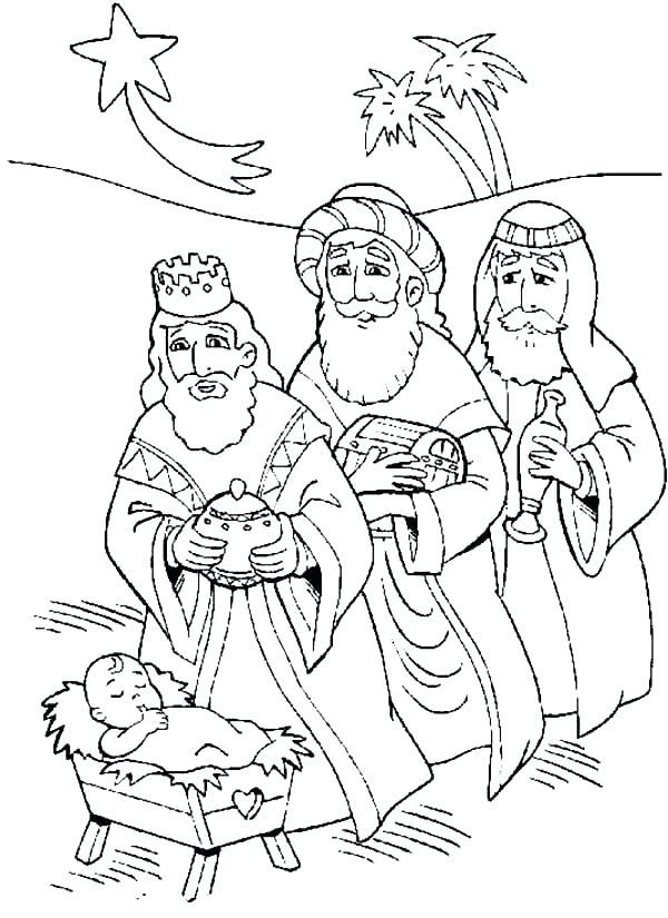 600x825 Wisemen Coloring Pages