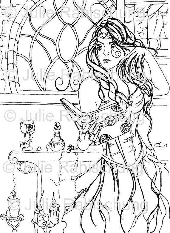 Witch Coloring Pages For Adults At Getdrawings Free Download